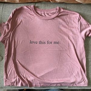 Love this for me crop tee